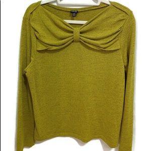 RAFAELLA PETITE P/M Sweater Green Top